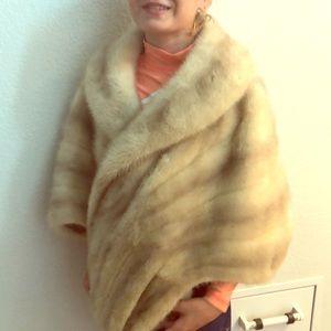 Glamorous fur shawl